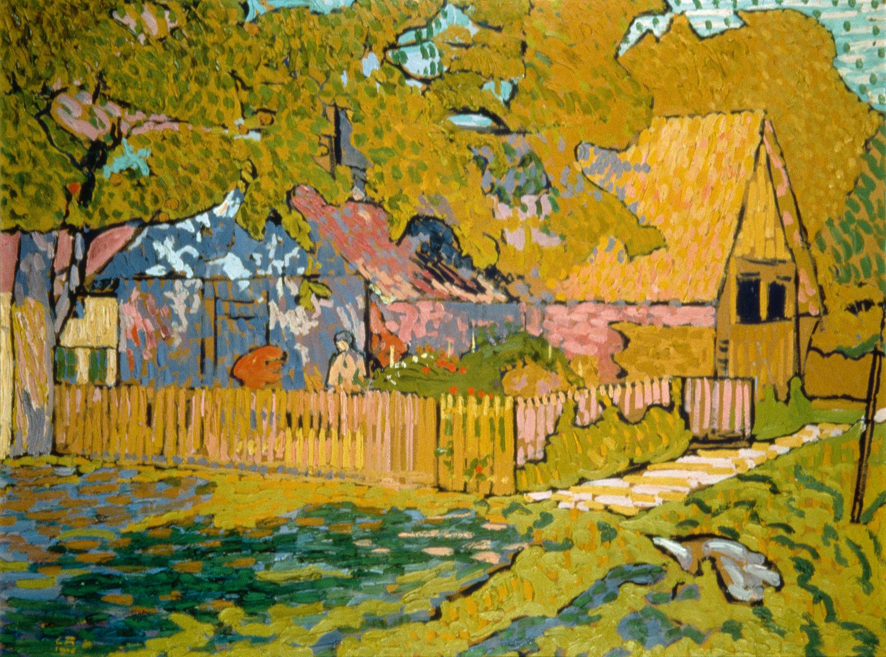 Cuno Amiet, Atelier im Herbst, 1906