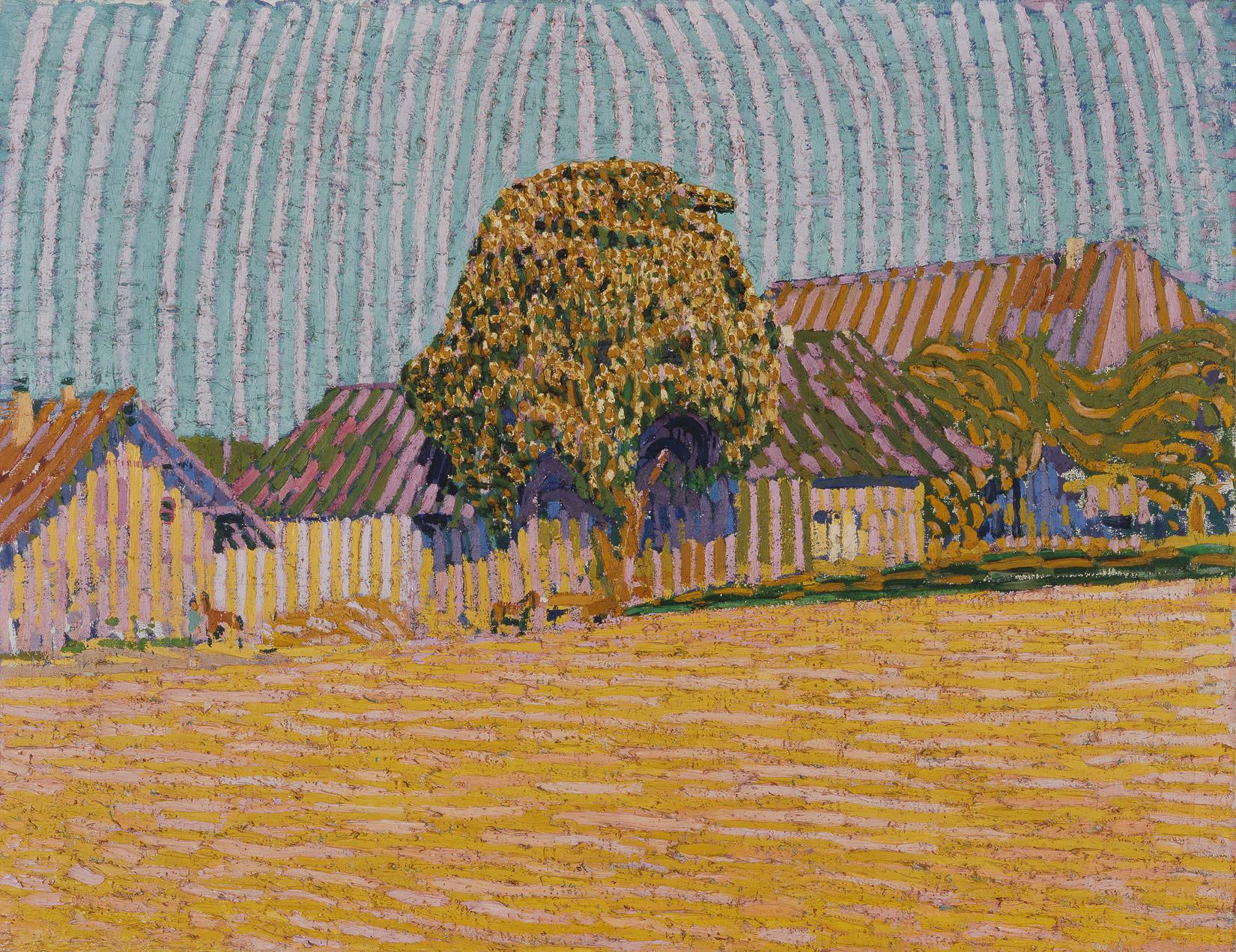 Cuno Amiet, Der blühende Baum, 1905 - ausgestellt in Dresden, 1906