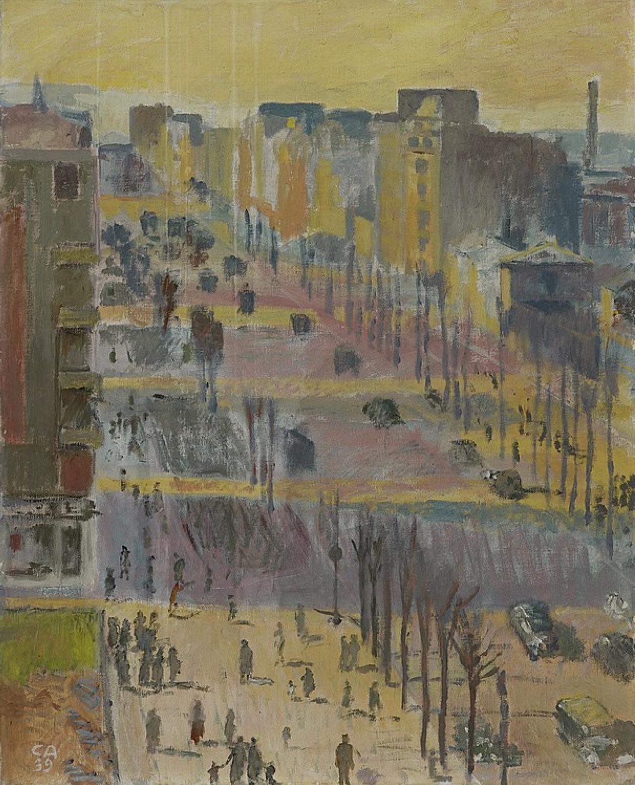 Cuno Amiet, Boulevard Brune, Paris, 1939 - ausgestellt in Stockholm, 1950