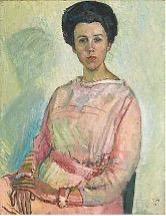 Bildnis Gertrud Müller, Öl/Leinwand, 1917