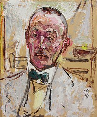 "Cuno Amiet, Bildnis ""Emil Sinclair"" alias Hermann Hesse, Öl/Karton, 1919"