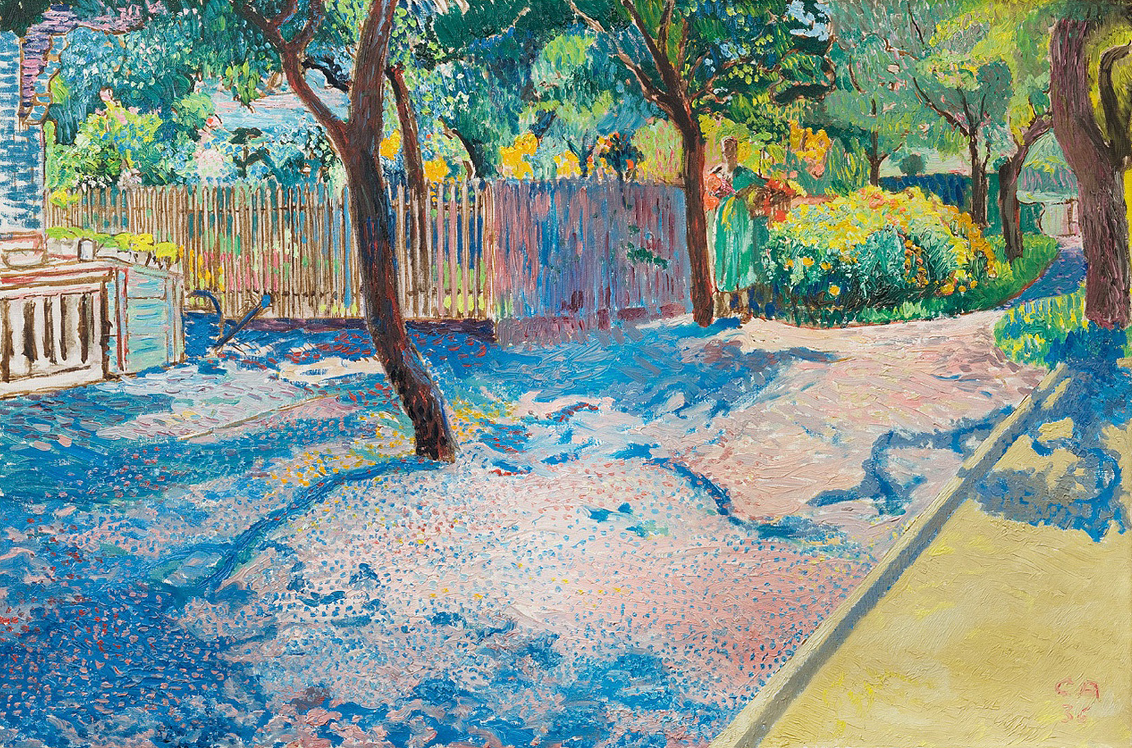 Cuno Amiet, Garden with Bowling Alley, Oschwand, 1936