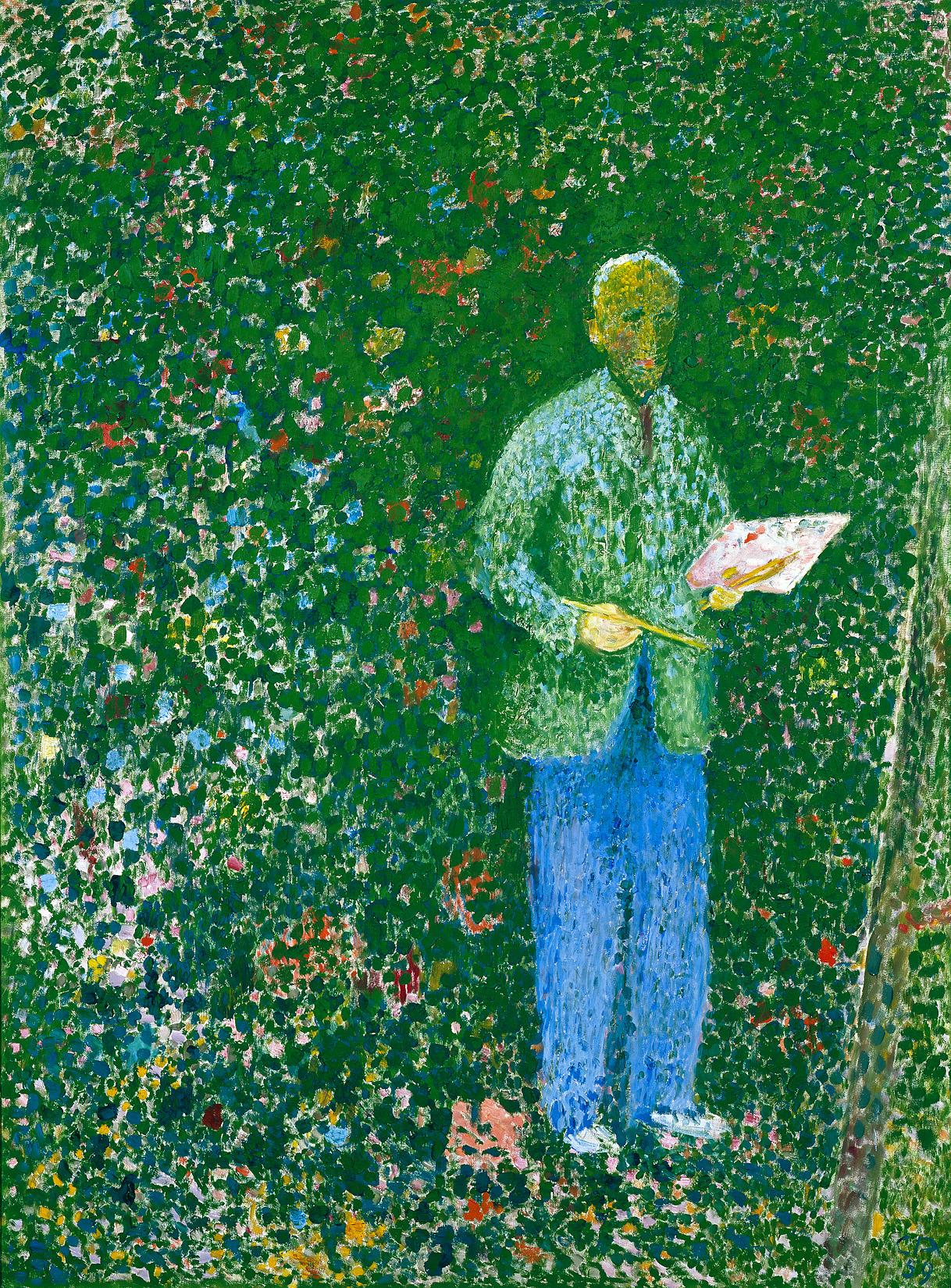 Cuno Amiet, Der Maler, 1959