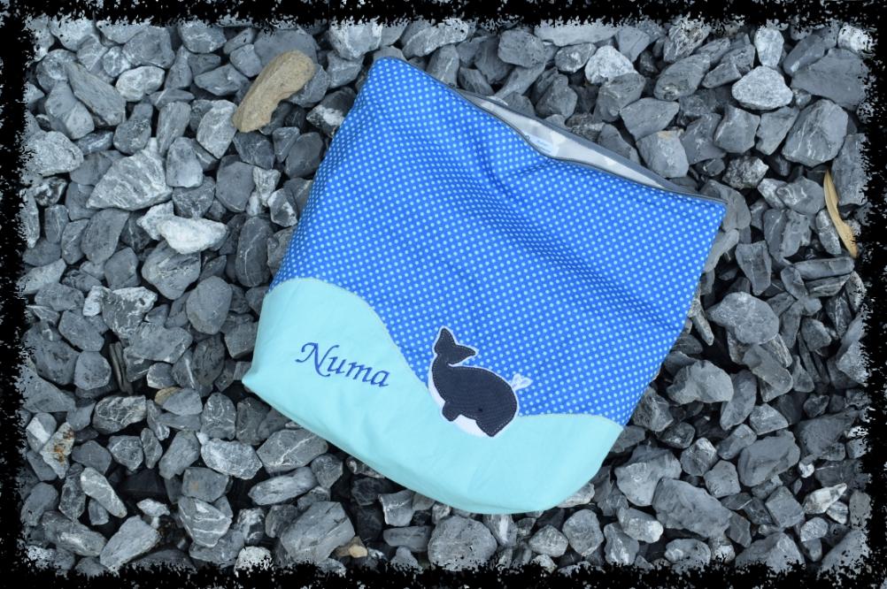 Wechselwäsche-Tasche mit Wal