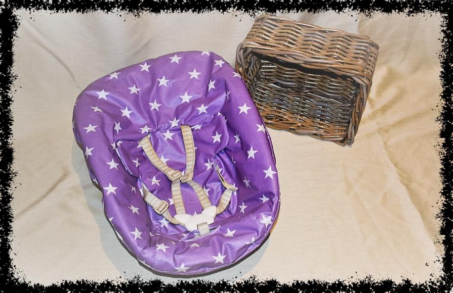TrippTrapp Newborn Bezug lila Sterne