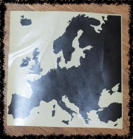 Weltkarte für Geldgeschenk