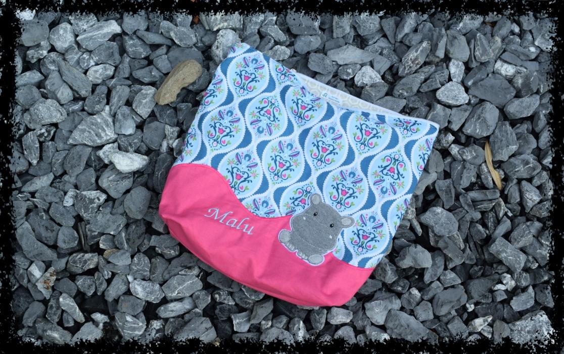 Wechselwäsche-Tasche mit Nilpferd