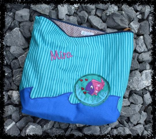 Wechselwäsche-Tasche mit Fisch