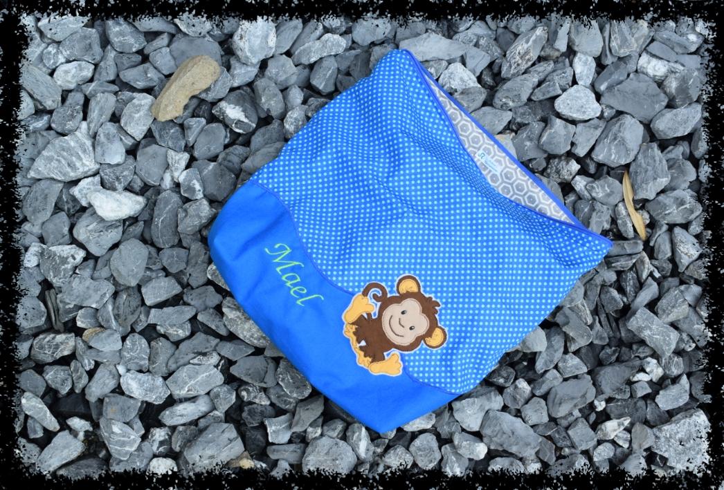 Wechselwäsche-Tasche mit Affe