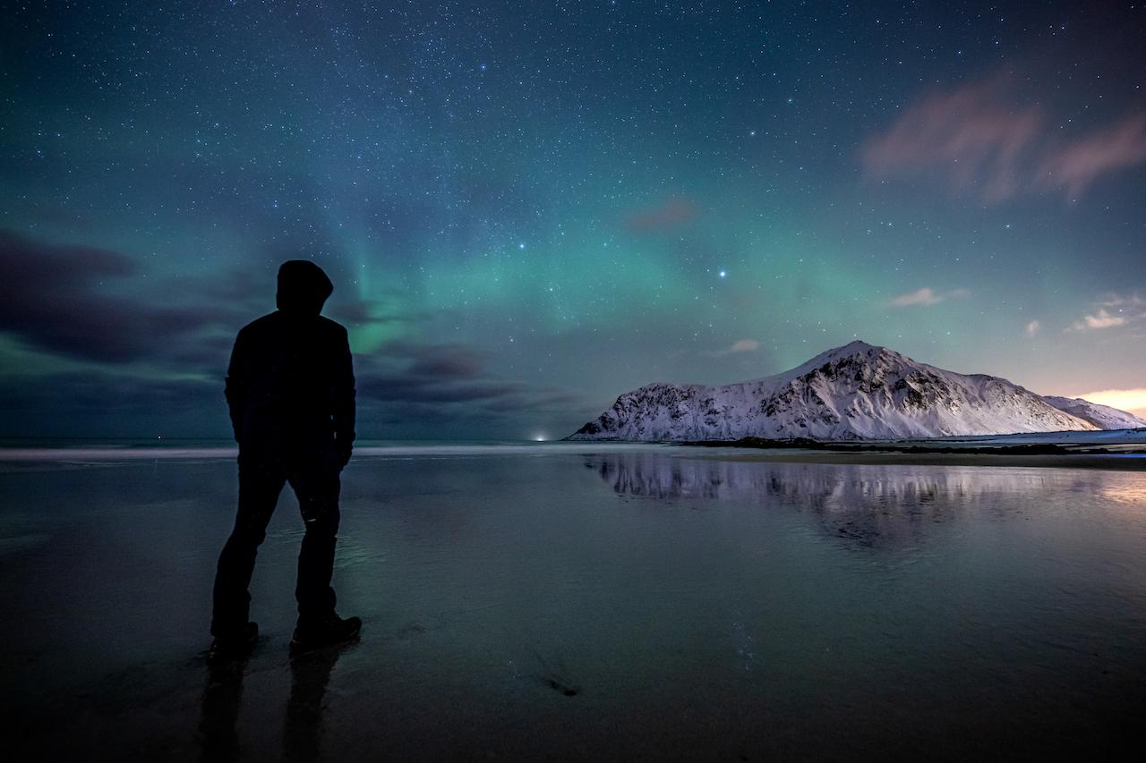 Polarlichter fotografieren: Abwarten und Tee trinken...