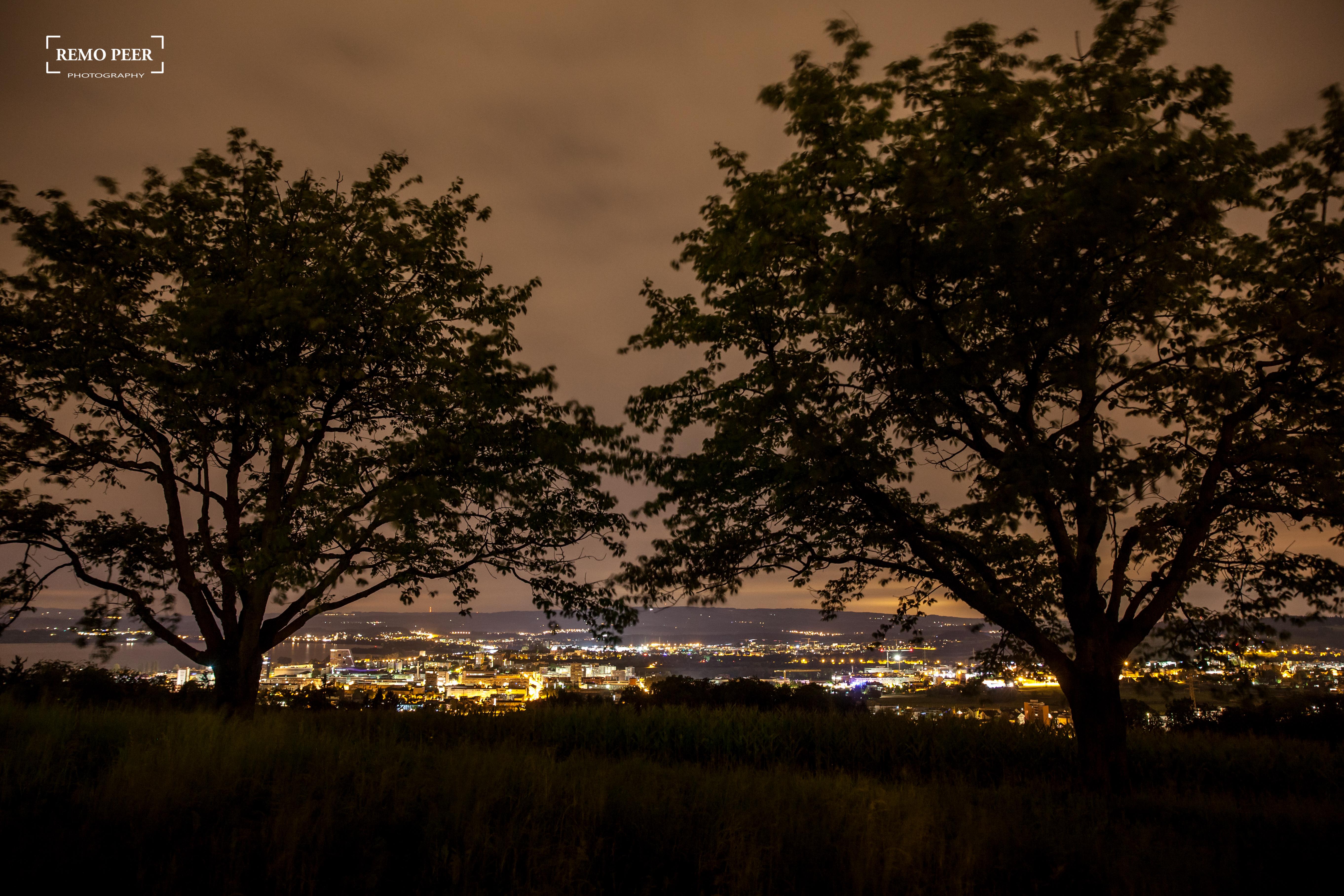 Stadt Zug bei Nacht, auf der Heimfahrt morgens um 02:00 Uhr