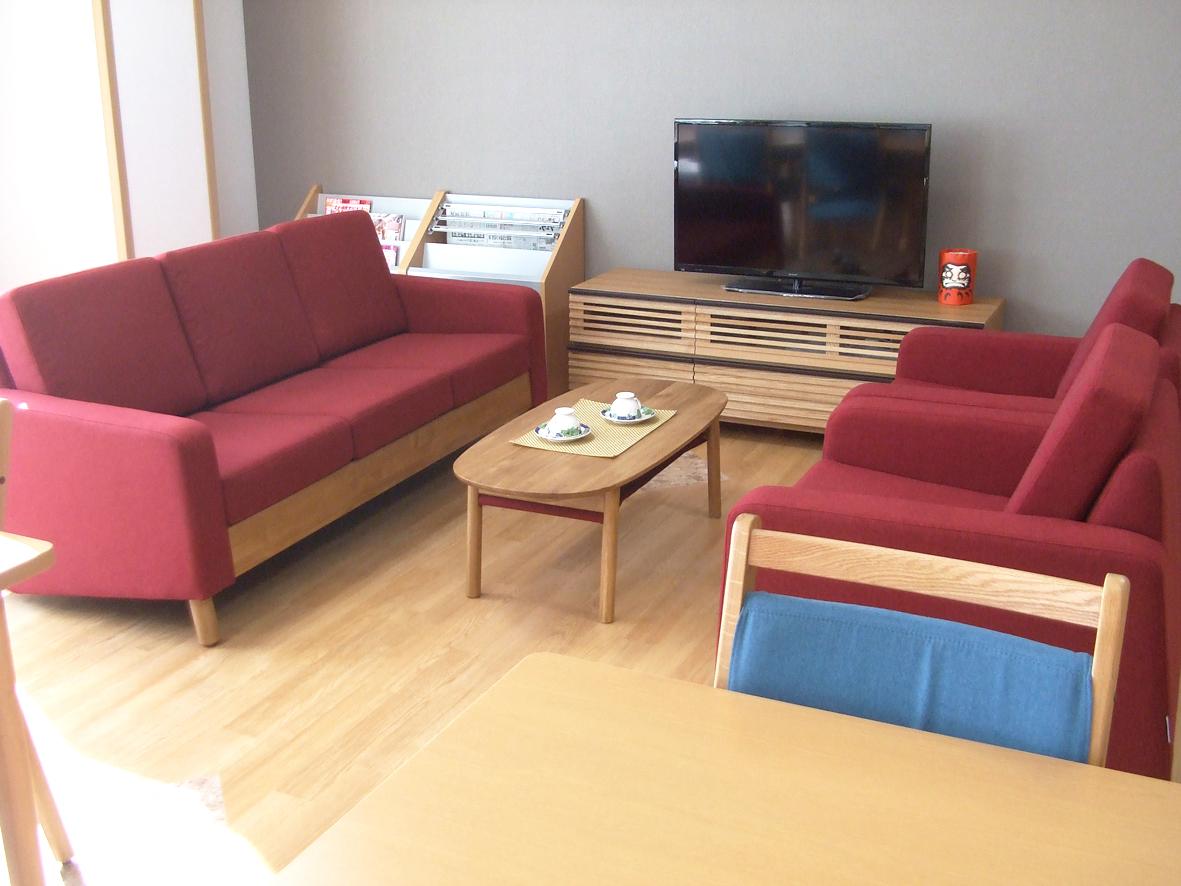 サロン用 ソファ・テーブル・AVボード