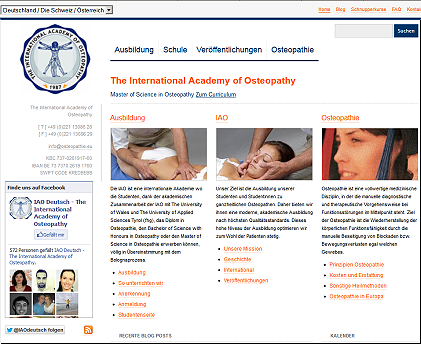 Website: The International Academy of Osteopathy