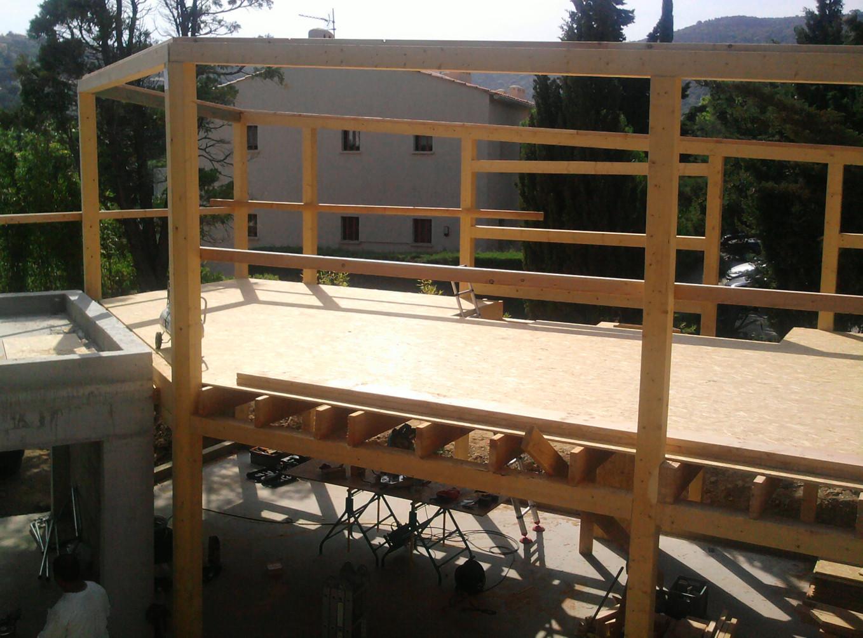 d'un plancher en bois, dalle OSB 22mm