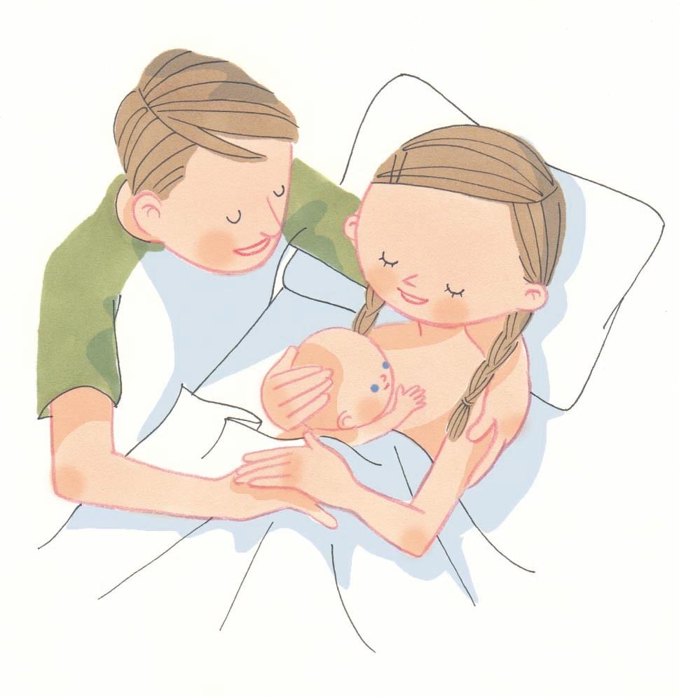 ママ赤ちゃん イラストレーター岡本典子web