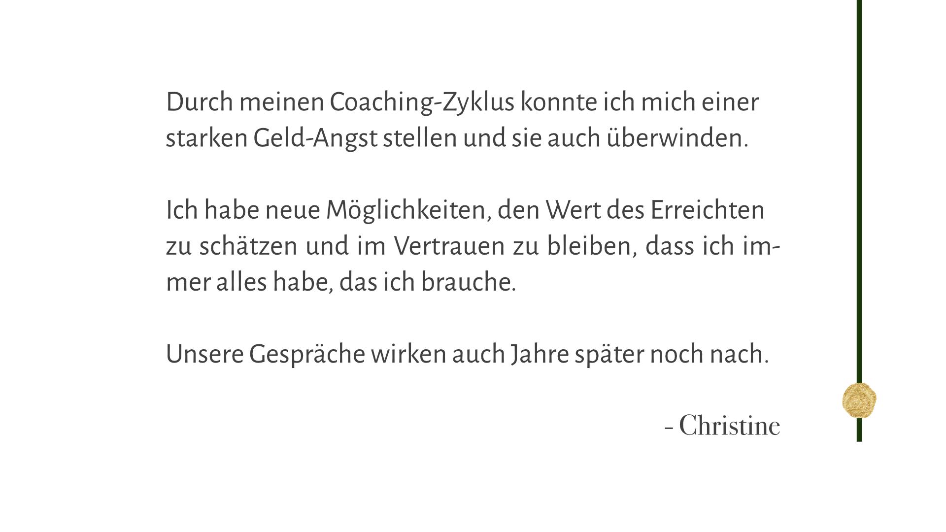 Christine, Pressesprecherin