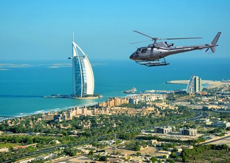 Burj Al Arab per Helikopter