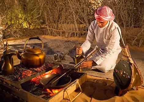 Traditionelles Beduinenessen