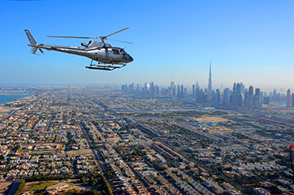 Helikopterflug Dubai