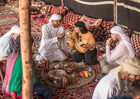 Auf den Spuren der Beduinen - Beduinenfrühstück