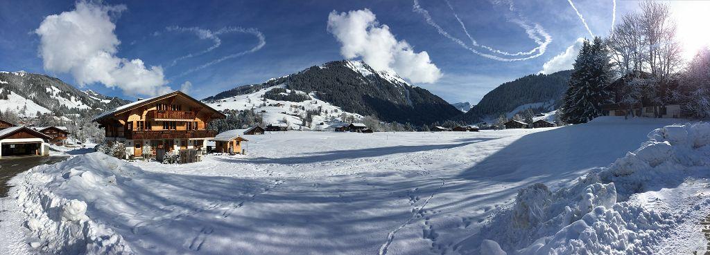 Winteransicht Chalet Lärchehus