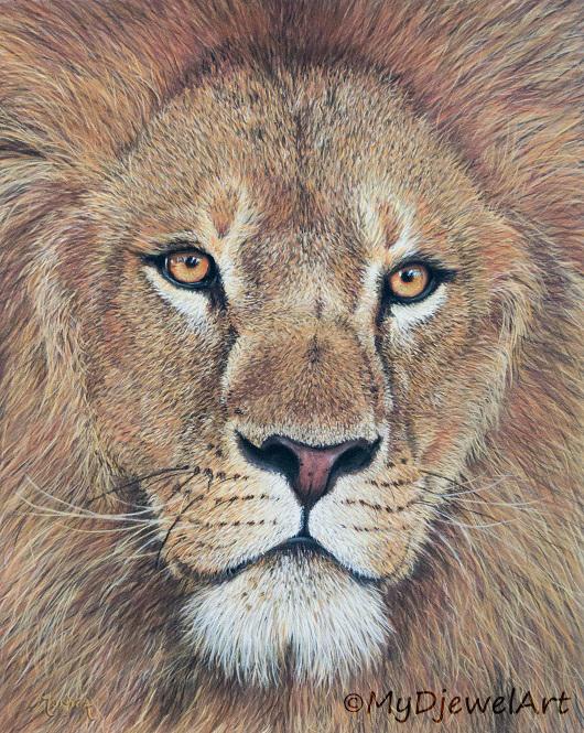 Leeuw op Pastelmat