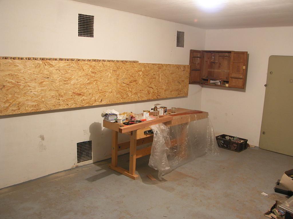 Der kleine heizbare Werkstattraum