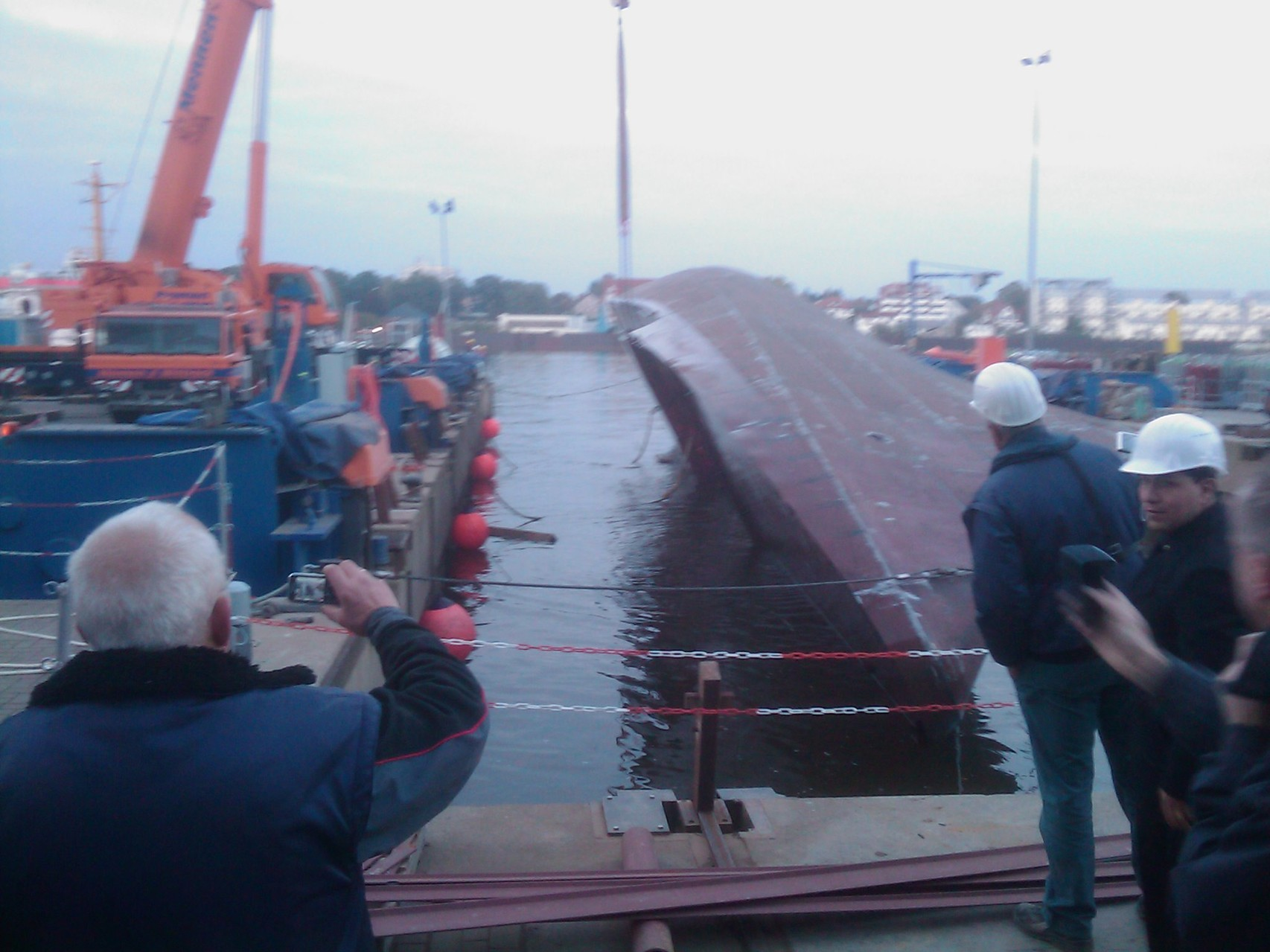 Hull turn over of the 40m patrol boat