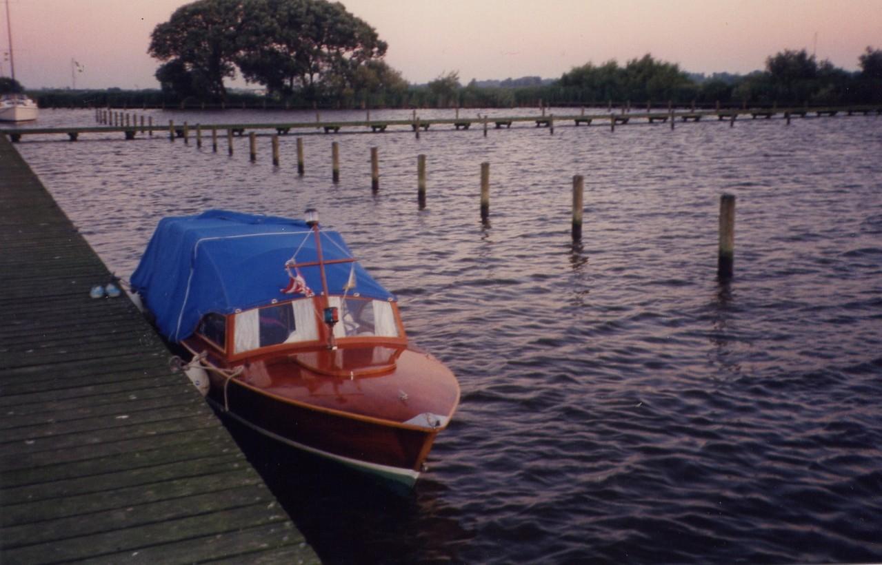 1992 auf dem Sneeker Meer in der Abendstimmung