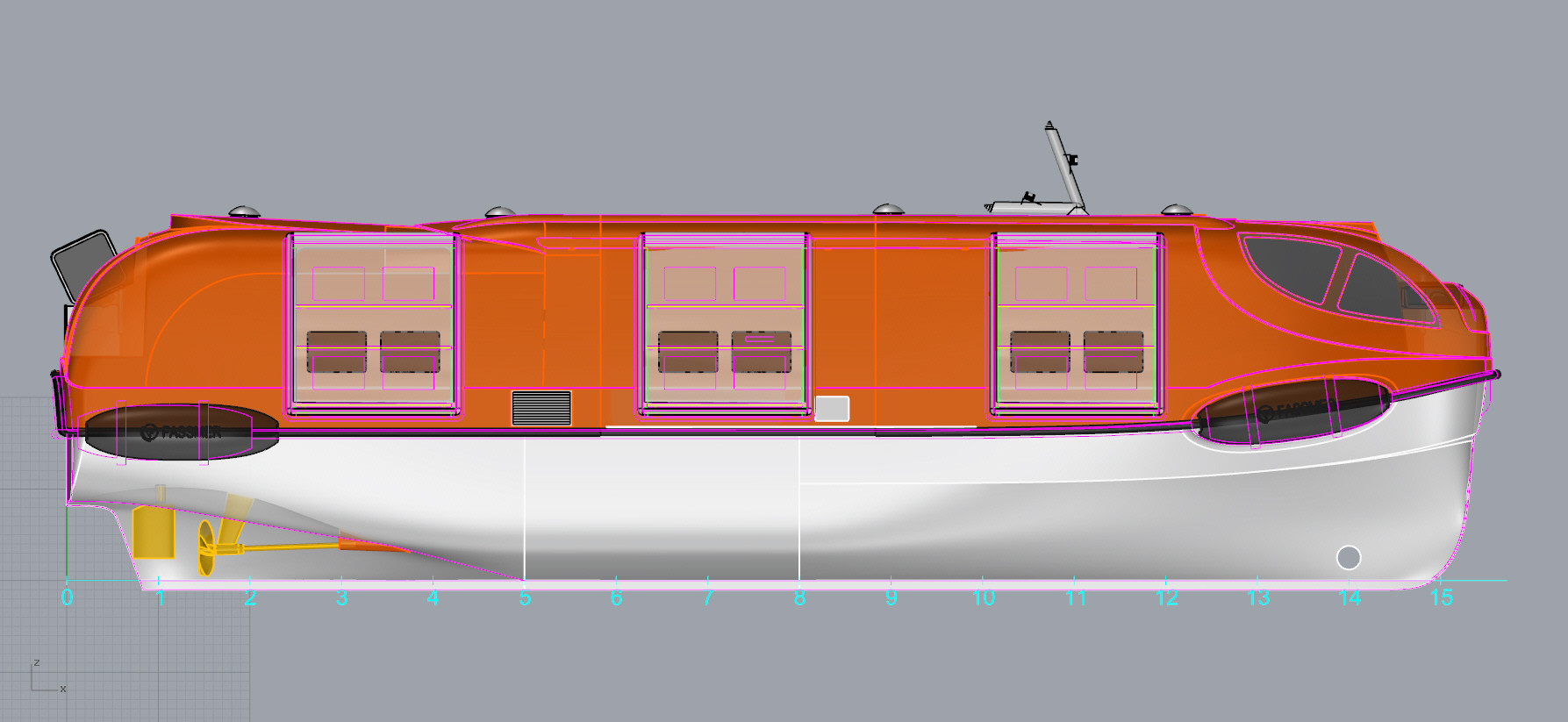 15.5 m SEL new superstructure surface, 3rd door inserted