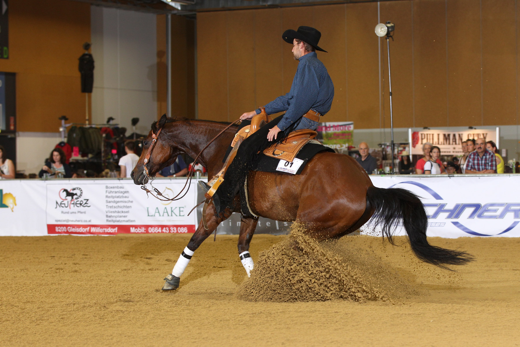 Possums Deeanna Whiz, ZNS Open Reining. Foto: CK Photographics