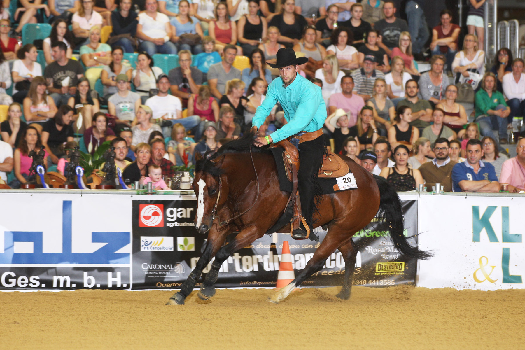 NRHA Maturity-Finale, Smart Freckles Orima. Foto: CK Photographics