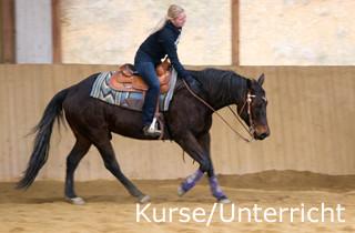Reinhard Hochreiter hält Reining-Kurse und bietet Unterricht für Reining-Reiter.