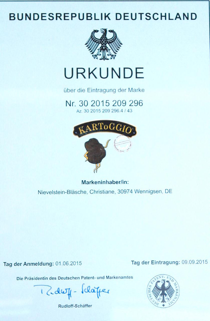 KARToGGIO®  unser geschütztes Markenzeichen für beste Qualität vom Deister.