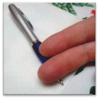 misurare dove prendere la penna