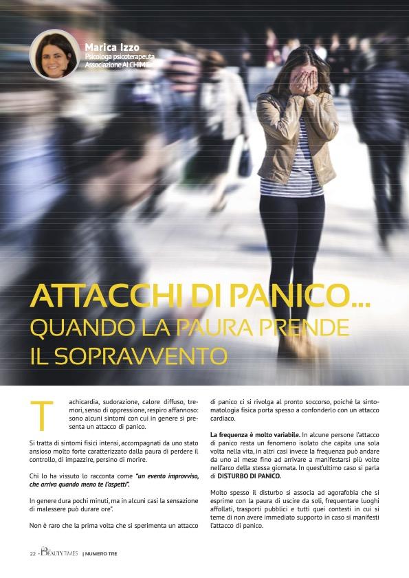 ATTACCHI DI PANICO... QUANDO LA PAURA PRENDE IL SOPRAVVENTO - dr.ssa MARICA IZZO