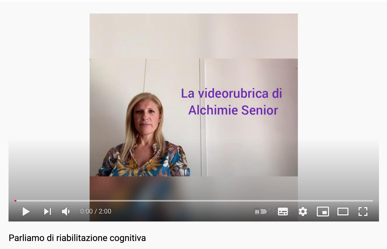 PARLIAMO DI RIABILITAZIONE COGNITIVA - dr.ssa BARBARA CONVERSIONE - AREA SENIOR