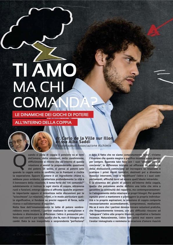 TI AMO MA CHI COMANDA? - dr. CARLO DE LA VILLE SUR ILLON, dr.ssa ALBA SADDI