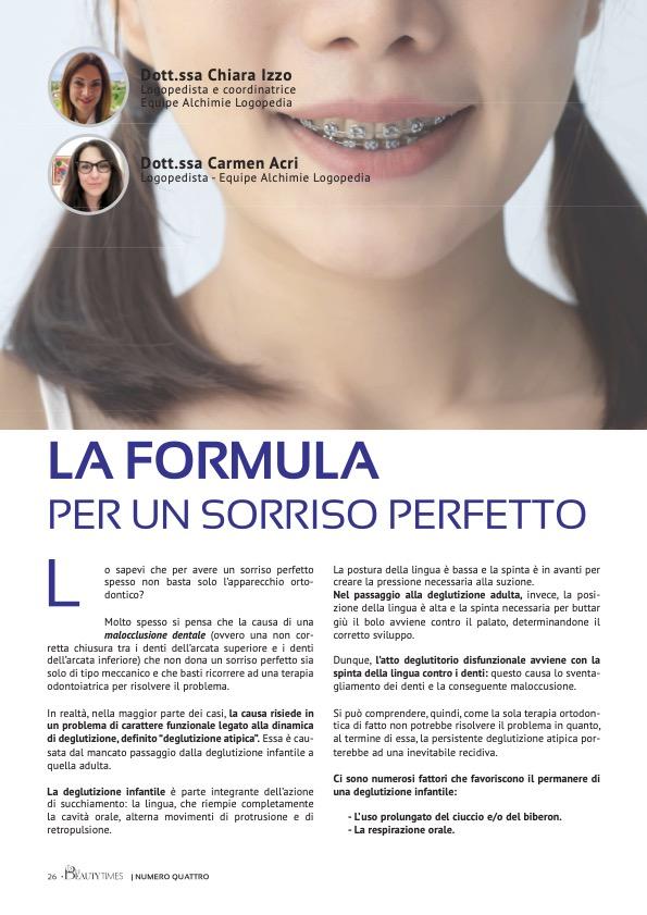 LA FORMULA PER UN SORRISO PERFETTO - dr.ssa CHIARA IZZO e dr.ssa CARMEN ACRI