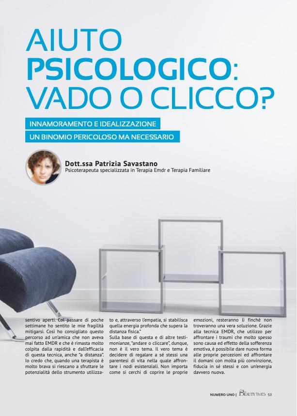 AIUTO PSICOLOGICO: VADO O CLICCO? - dr.ssa PATRIZIA SAVASTANO