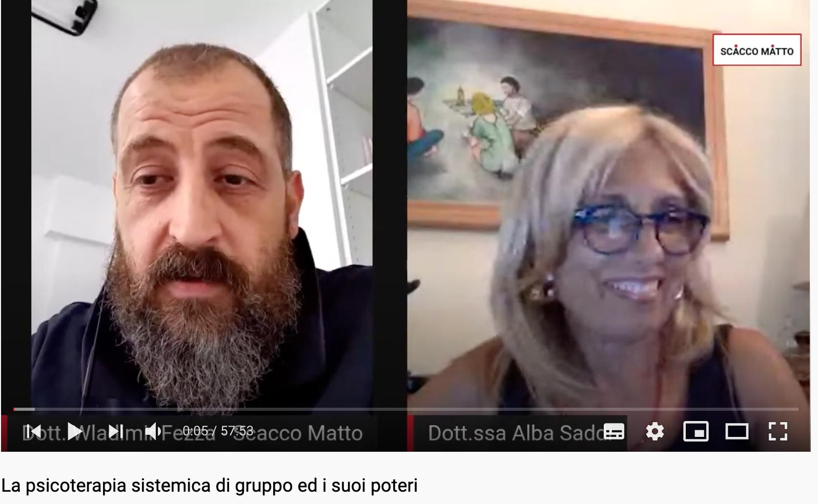 LA TERAPIA SISTEMICA DI GRUPPO ED I SUOI POTERI - Intervista alla dr.ssa ALBA SADDI - Scacco Matto dr. WLADIMIR FEZZA