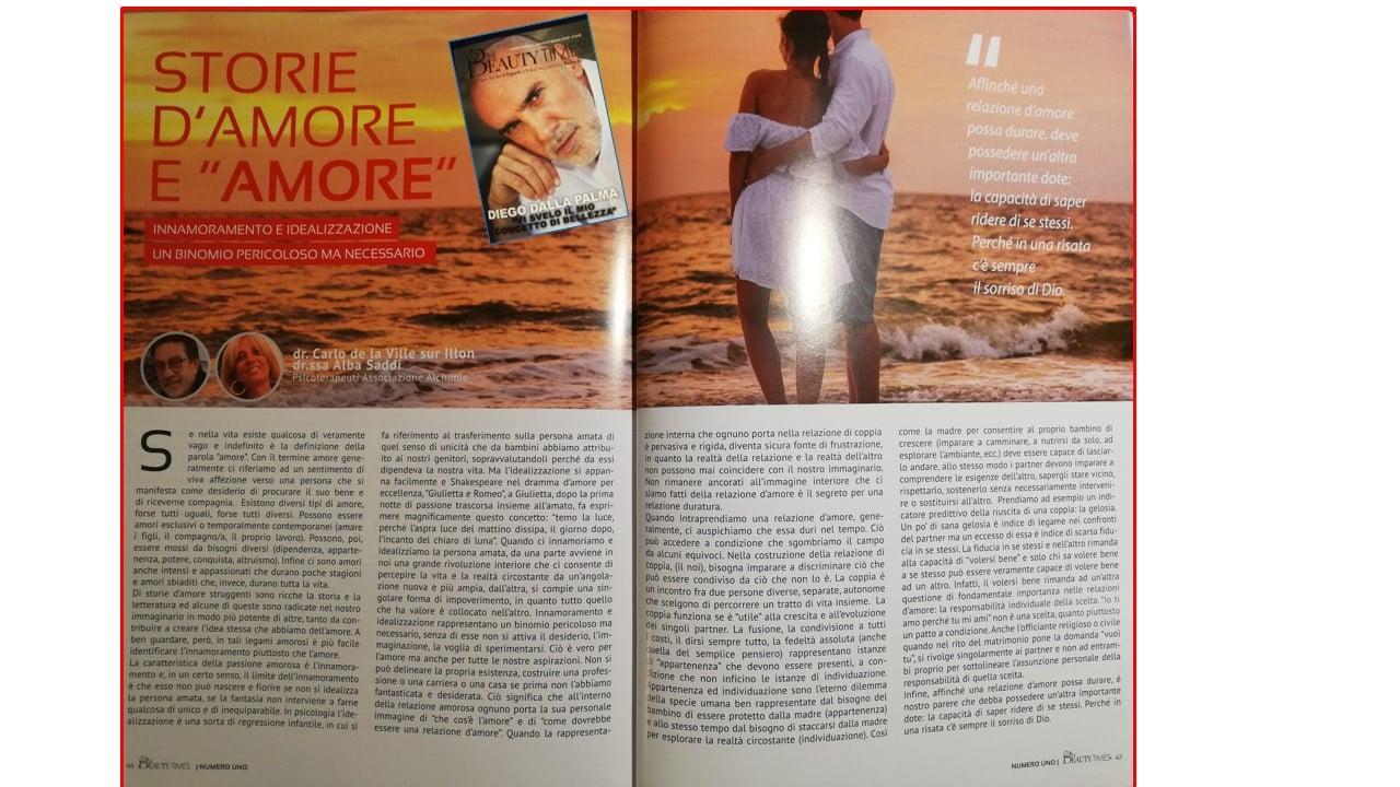 Innamoramento e idealizzazione. Un binomio pericoloso ma necessario - Dr. CARLO DE LA VILLE SUR ILLON, ALBA SADDl