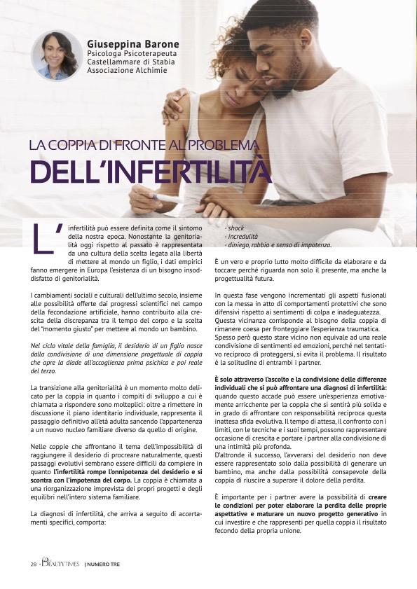 LA COPPIA DI FRONTE AL PROBLEMA DELL'INFERTILITÀ - dr.ssa GIUSEPPINA BARONE