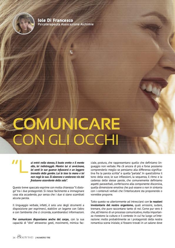COMUNICARE CON GLI OCCHI - dr.ssa IOLE DI FRANCESCO
