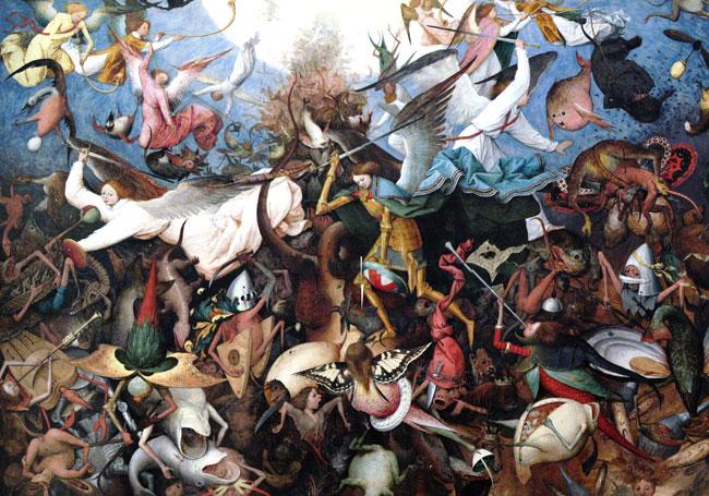 "Pieter Brueghel, ""La caduta degli angeli ribelli"" (1562)"