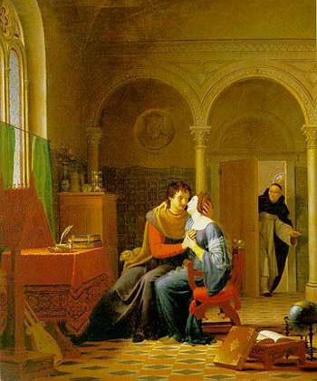 Abelardo ed Eloisa sorpresi da Fulberto (Jean Vignaud, 1819)