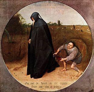 """Bruegel il Vecchio, """"Il Misantropo"""" (1568), Museo di Capodimonte, Napoli"""