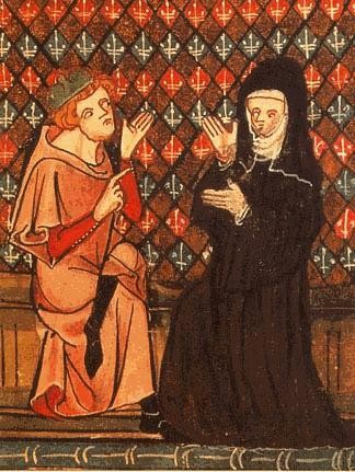 Abelardo ed Eloisa in un manoscritto del XIV secolo