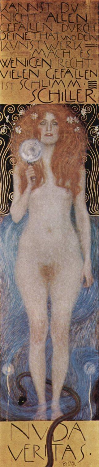"Gustav Klimt, ""Nuda Veritas"", 1899"