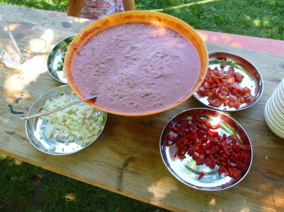 Der fertige Gazpacho